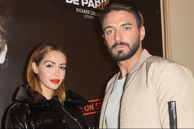 Nabilla et Thomas Vergara à Paris, le 22 octobre dernier.