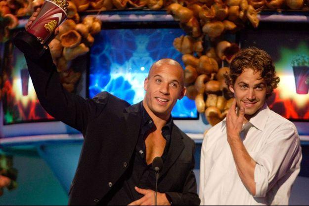 Vin Diesel et Paul Walker, en 2002 à Los Angeles.