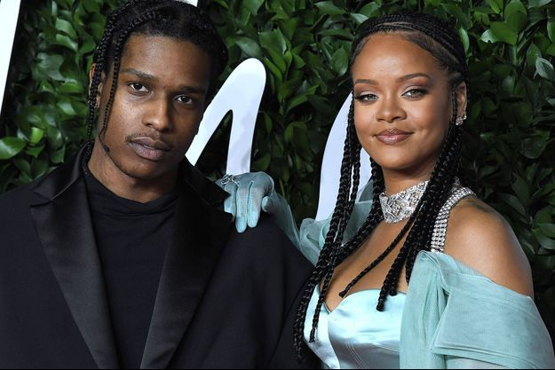 ASAP Rocky et Rihanna aux Fashion Awards à Londres en décembre 2019