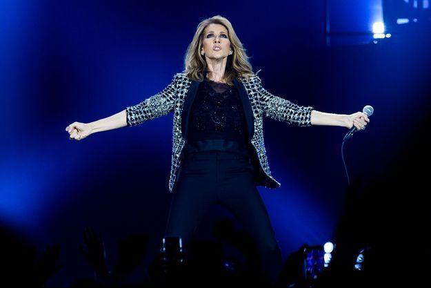 Céline Dion sur scène en juillet 2017.