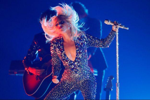 Lady Gaga lors d'une performance aux Grammy Awards, en février 2019.