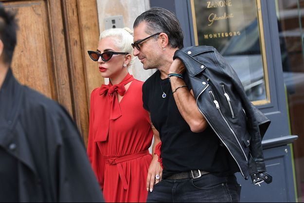 Lady Gaga et Christian Carino à Paris, le 27 août 2018.