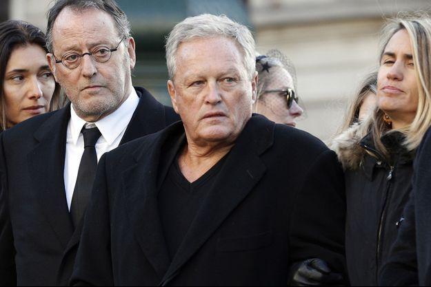 André Boudou aux obsèques de Johnny Hallyday en décembre 2017