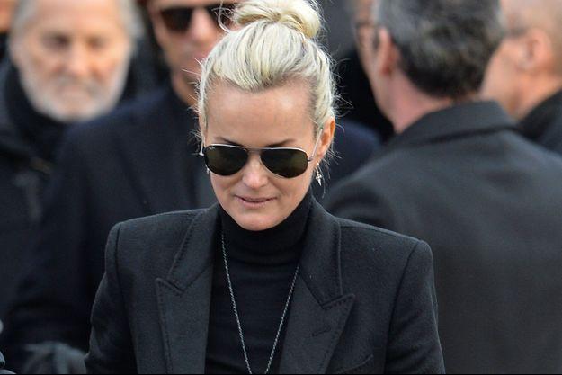 Laeticia Hallyday lors de l'hommage populaire rendu à Johnny Hallyday, le 9 décembre à Paris.