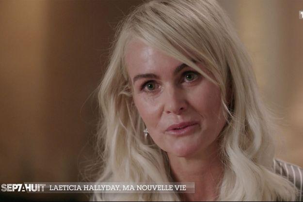 """Laeticia Hallyday dans l'émission """"Sept à Huit"""" diffusée le 18 octobre 2020"""