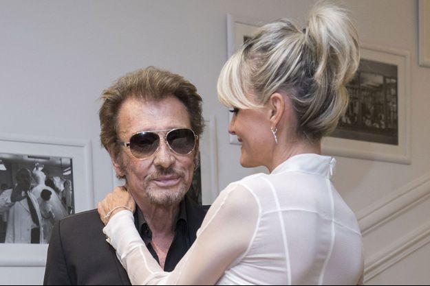 Johnny et Laeticia Hallyday, à Paris en juillet 2016.