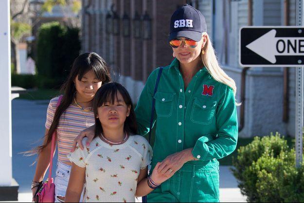 Laeticia Hallyday et ses filles Jade et Joy