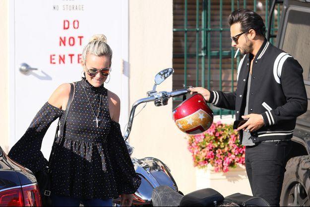 Laeticia Hallyday et Maxim Nucci à Los Angeles en janvier 2018.