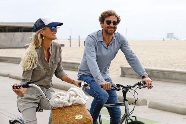 Avec Pascal Balland à Venice Beach, le 27 octobre. Le propriétaire de trois établissements à Paris est venu la rejoindre à Los Angeles.