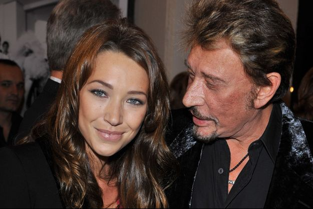 Laura Smet et son père Johnny Hallyday en 2008.