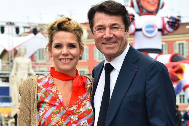Laura Tenoudji et Christian Estrosi à Nice, le 17 février dernier.
