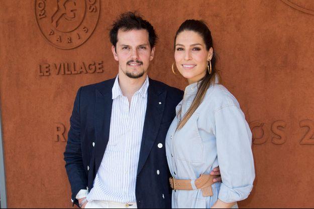 Laury Thilleman et Juan Arbelaez à Roland-Garros en mai 2019