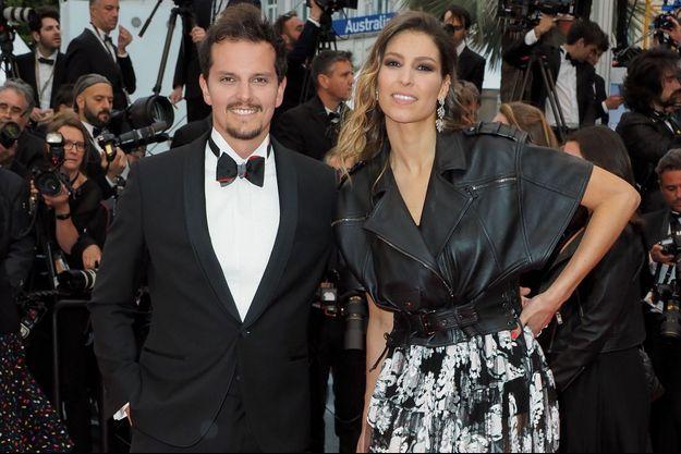 Laury Thilleman et Juan Arbelaez à Cannes le 17 mai 2019 .