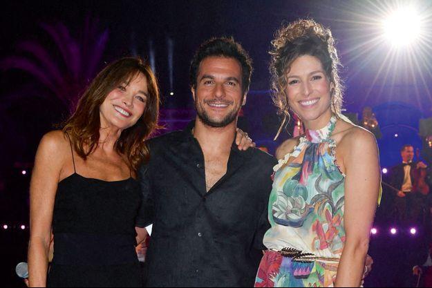 Carla Bruni, Amir et Laury Thilleman.