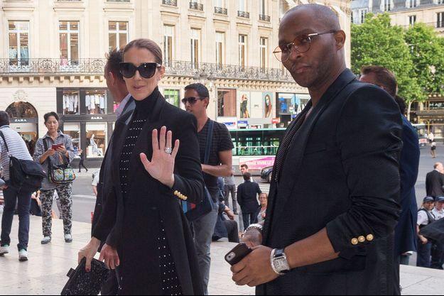 Céline Dion et Law Roach à Paris, le 13 juin 2017.