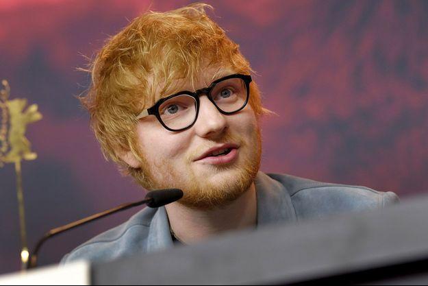 """Ed Sheeran à la conférence de presse du film """"Songwriter"""" lors du 68ème Festival du Film de Berlin, le 23 février dernier."""