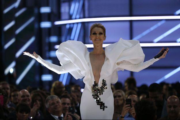 Céline Dion en mai dernier à Las Vegas.