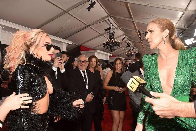 Lady Gaga et Céline Dion en 2017