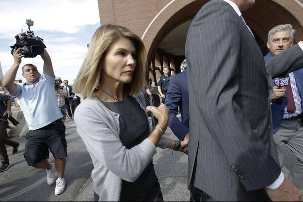 Lori Loughlin au tribunal de Boston le 27 août 2019