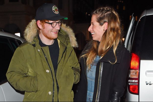 Ed Sheeran et sa future épouse Cherry Seaborn à Londres le 3 mars 2017