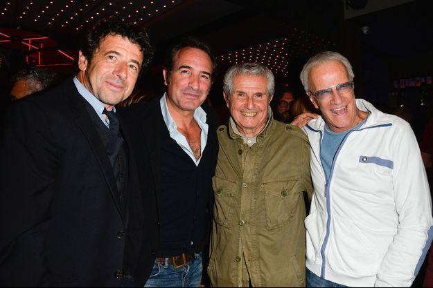 Patrick Bruel, Jean Dujardin, Claude Lelouch et Christophe Lambert pour les 80 ans du réalisateur.