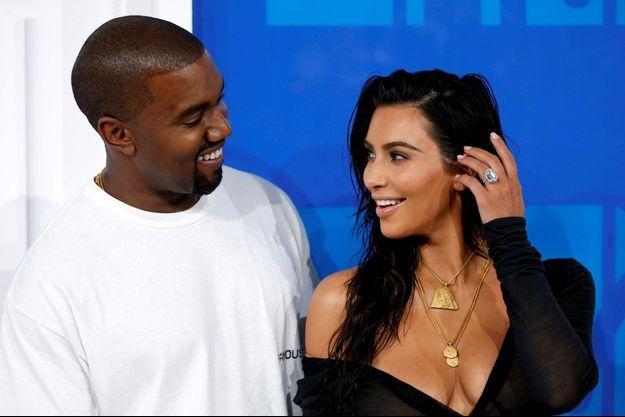 Kanye West et Kim Kardashian, le le 28 août 2016 à New York.