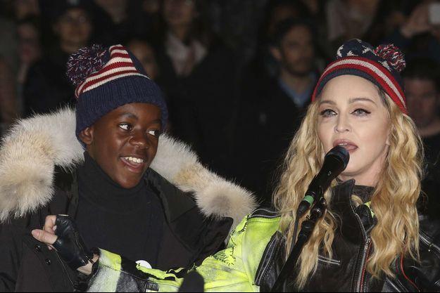 David Banda et Madonna en 2016