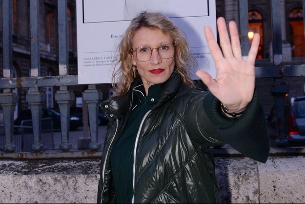 Alexandra Lamy à Paris en mars 2020