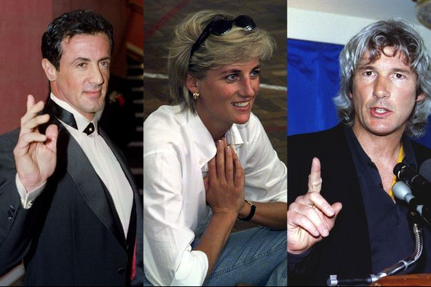 Sylvester Stallone, Lady Diana et Richard Gere
