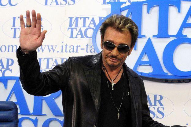 Johnny Hallyday, le 29 mai 2012 en Russie.
