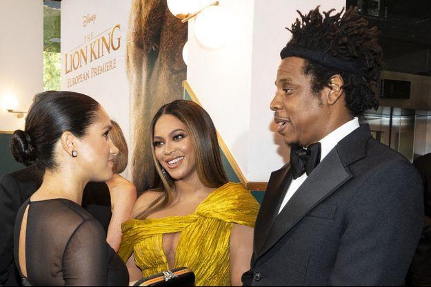 Meghan Markle avec Beyoncé et Jay-Z en juillet 2019.
