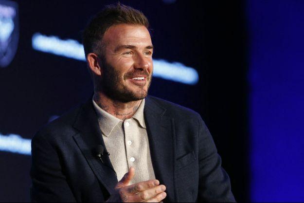 David Beckham à New York en février 2020.