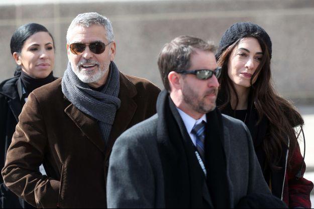 Amal et George Clooney en mars 2018.
