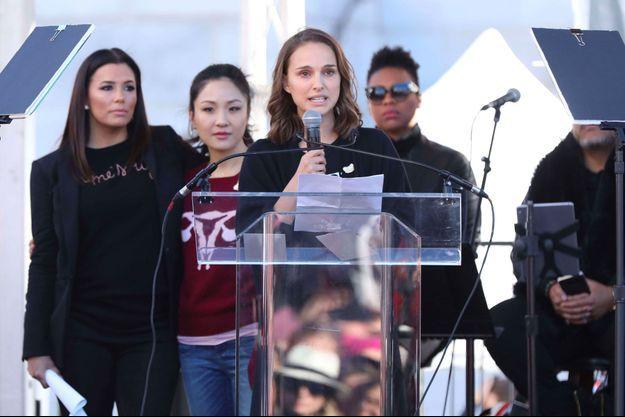 Natalie Portman lors de la Marche des Femmes à Los Angeles le 20 janvier 2018