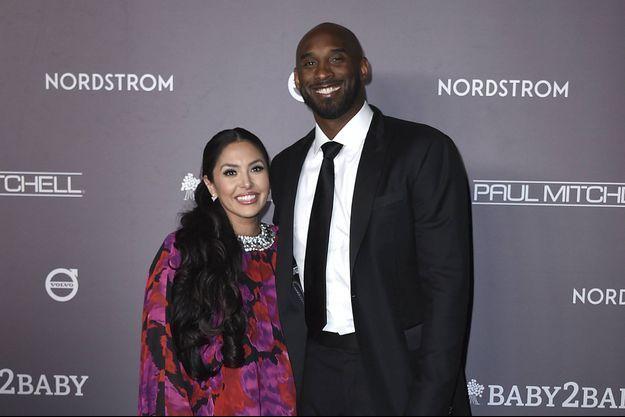 Vanessa et Kobe Bryant lors d'un gala en Californie en novembre 2019.