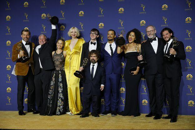 Le cast de Game of Thrones lors des Emmy Awards en 2018