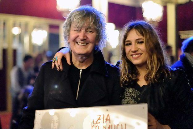 Jacques et Izia Higelin en 2012
