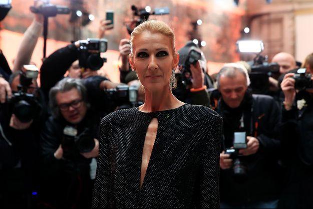 Céline Dion à la dernière Fashion Week de Paris.
