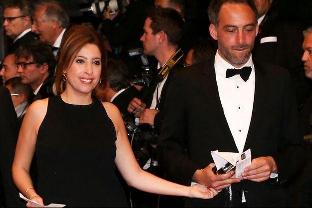 Léa Salamé et son compagnon Raphaël Glucksmann au festival de Cannes en mai 2017.