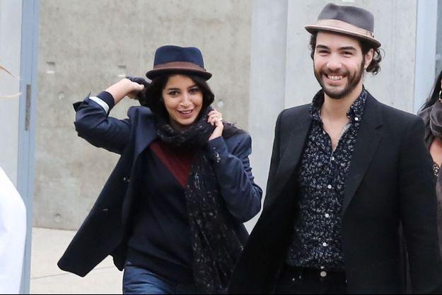 Leila Bekhti et Tahar Rahim à Lyon le 19 octobre 2013.