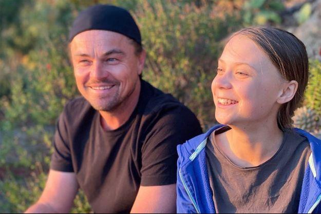 Leonardo DiCaprio et Greta Thunberg.