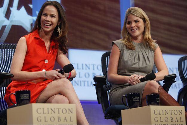 Barbara et Jenna Bush, le 22 septembre 2010 à la Clinton Global Initiative.