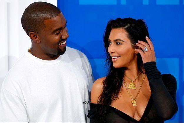 Kanye West et Kim Kardashian en 2016
