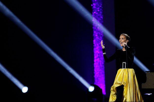 Céline Dion en concert à Los Angeles, en mars 2019.