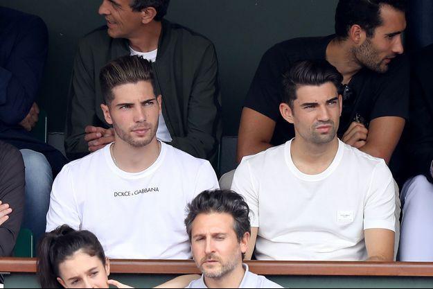 Luca et Enzo Zidane à Roland-Garros 2018