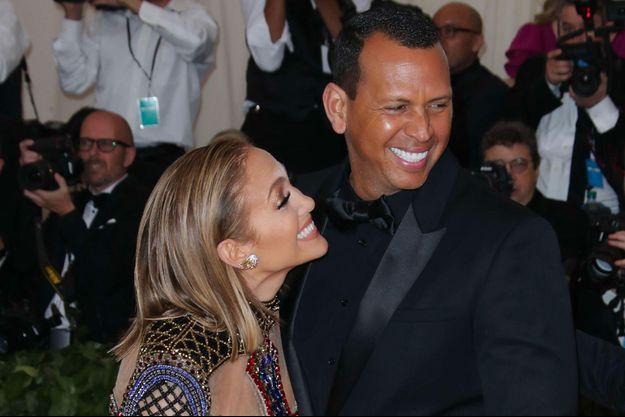 Jennifer Lopez et Alex Rodriguez au MET Gala, à New York, le 7 mai 2018