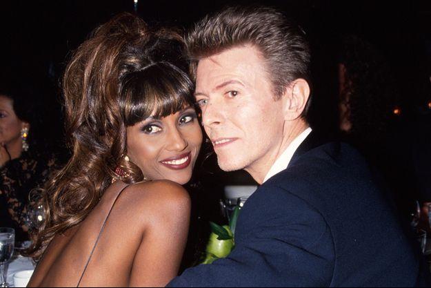 Iman et David Bowie dans les années 1990