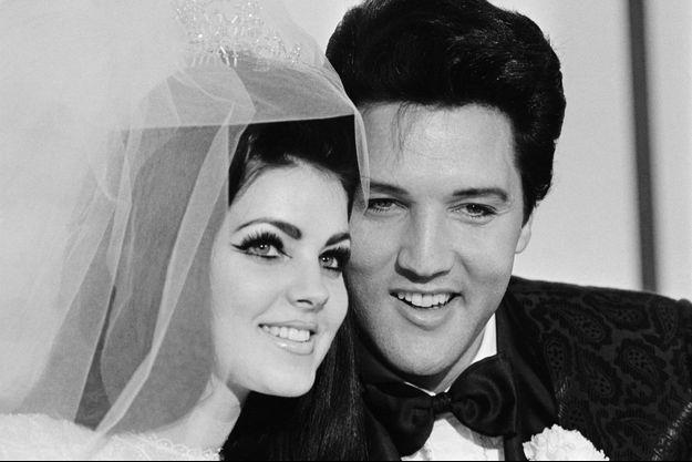 Priscilla et Elvis Presley à leur mariage le 1er mai 1967 à Las Vegas