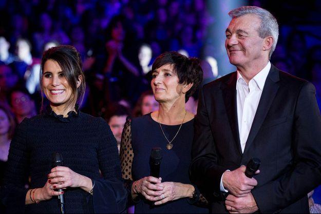 Karine Ferri, Laurence et Pierre Lemarchal.
