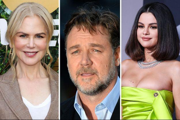 Nicole Kidman, Russel Crowe et Selena Gomez.